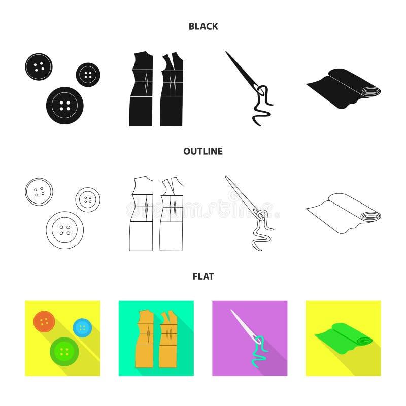 Vektorillustration av hantverket och att handcraft symbolen Samling av hantverk- och branschvektorsymbolen f?r materiel stock illustrationer