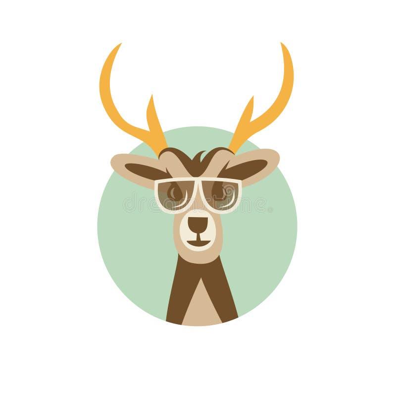 Vektorillustration av hjorthipsteren stock illustrationer