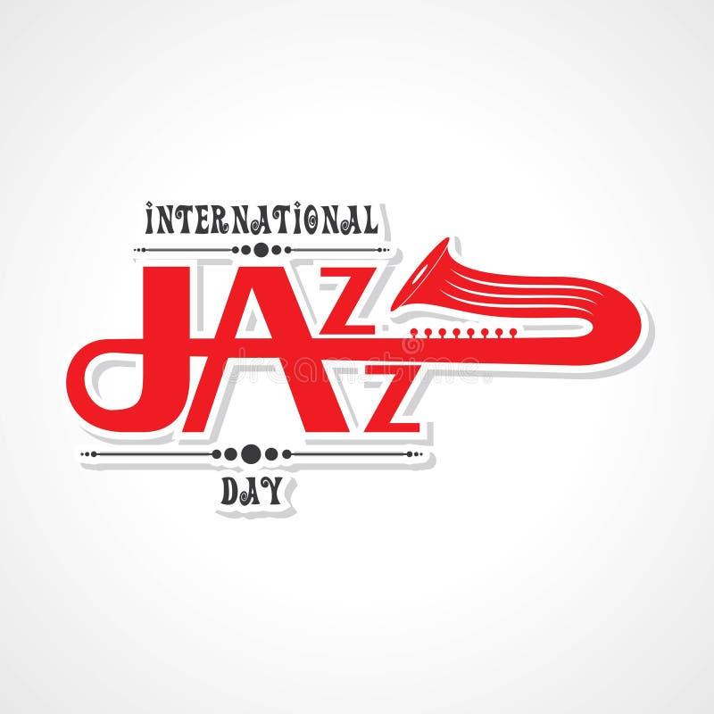 Vektorillustration av internationella Jazz Day stock illustrationer