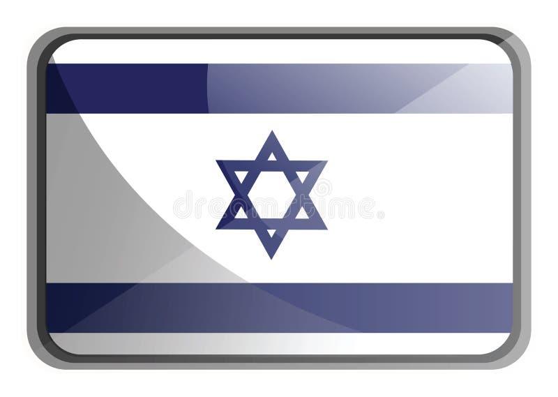 Vektorillustration av Israels flagga stock illustrationer