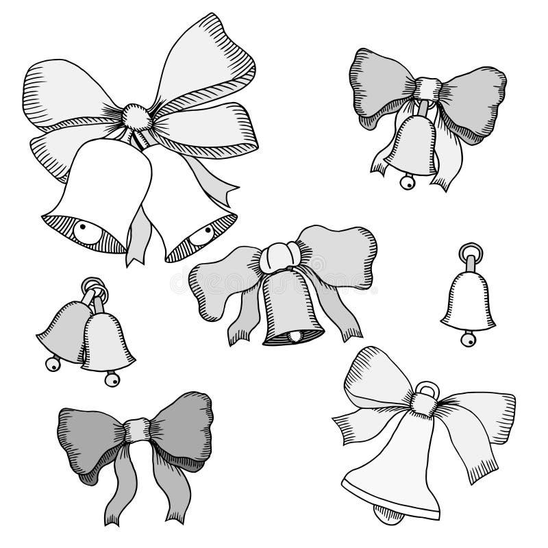 Vektorillustration av julpynt royaltyfri illustrationer