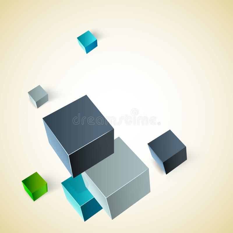 Vektorillustration av kuber 3d royaltyfri illustrationer