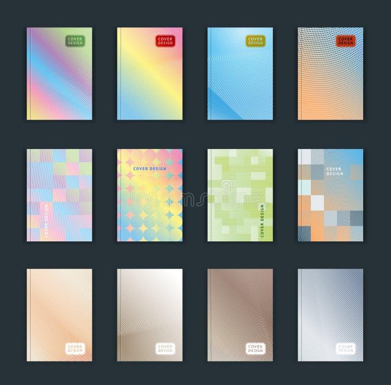 Vektorillustration av ljus bakgrund för färgabstrakt begreppmodell med linjen lutningtextur för minsta dynamisk räkningsdesign stock illustrationer