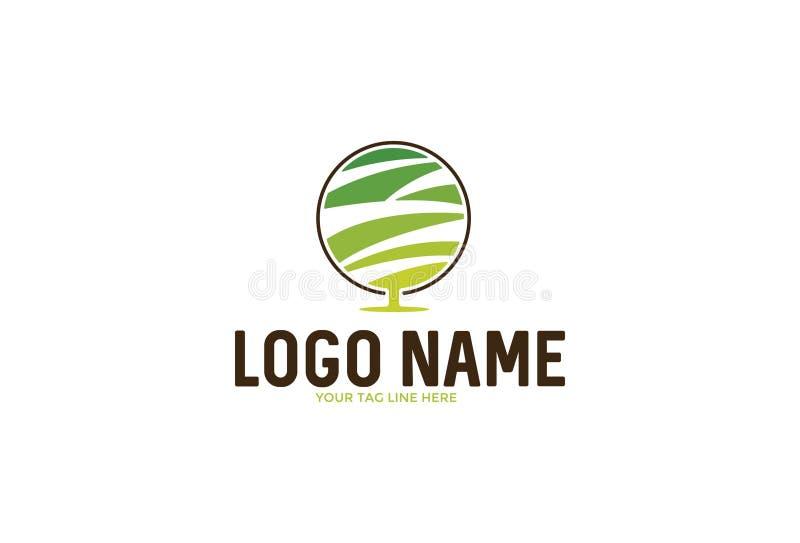 Vektorillustration av logodesignen stock illustrationer