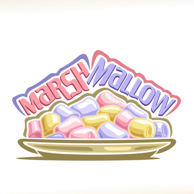 Vektorillustration av marshmallowen royaltyfri illustrationer