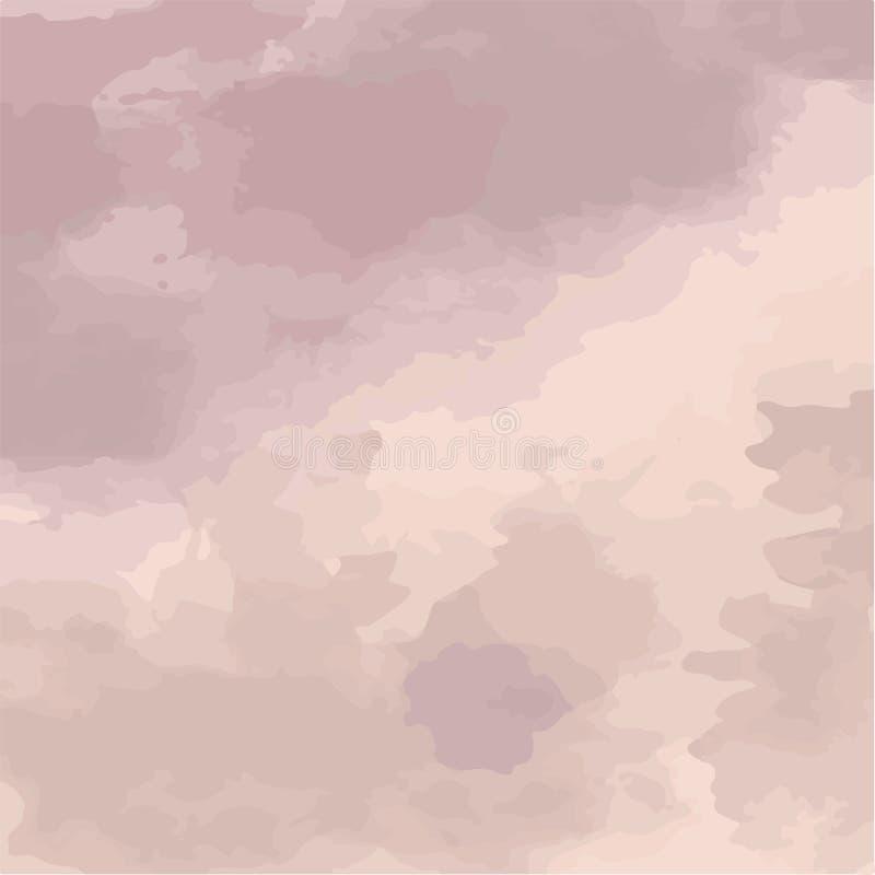 Vektorillustration av mjuka violetta vattenfärgfläckar abstrakt bakgrund vektor illustrationer