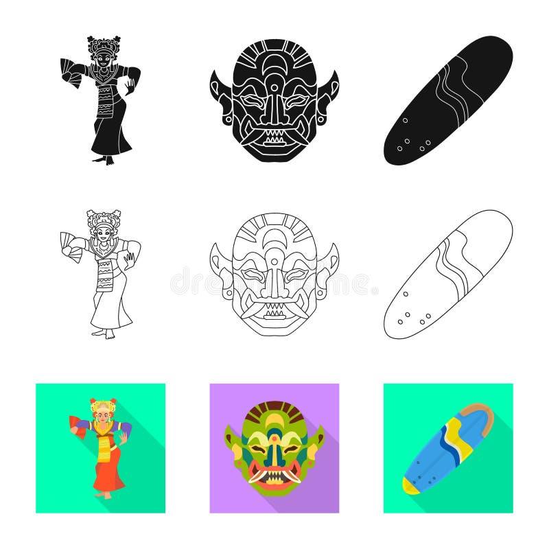 Vektorillustration av och loppsymbol Samlingen av och traditionella lagerf?r symbolet f?r reng?ringsduk royaltyfri illustrationer