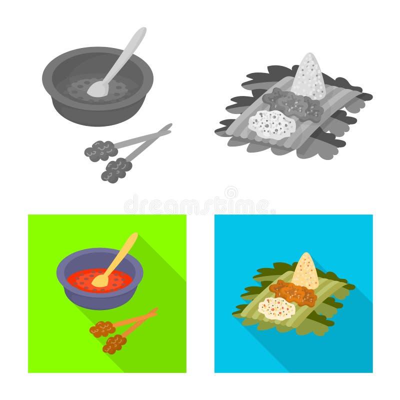 Vektorillustration av och loppsymbol Samlingen av och traditionella lagerf?r vektorillustrationen stock illustrationer