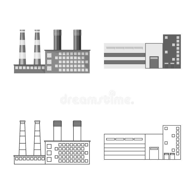 Vektorillustration av produktion- och struktursymbolen r royaltyfri illustrationer