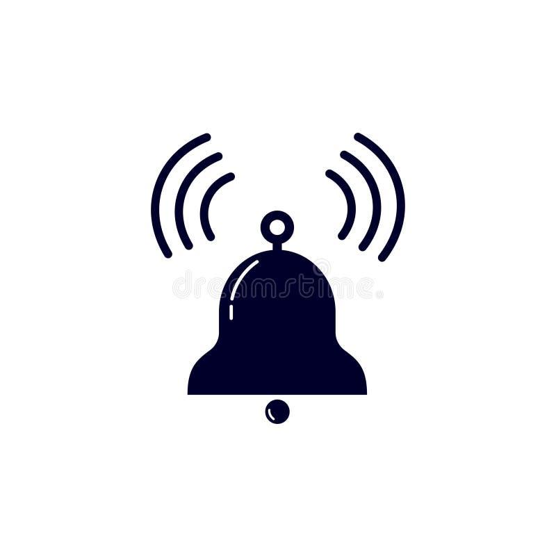 Vektorillustration av ringningklockan Klocka symbol på vit bakgrund vektor illustrationer