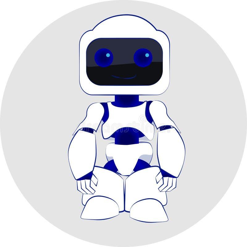 Vektorillustration av roboten royaltyfri illustrationer