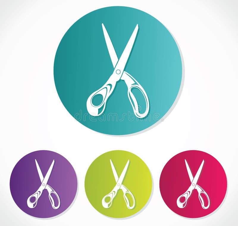 Scissors symbolen stock illustrationer