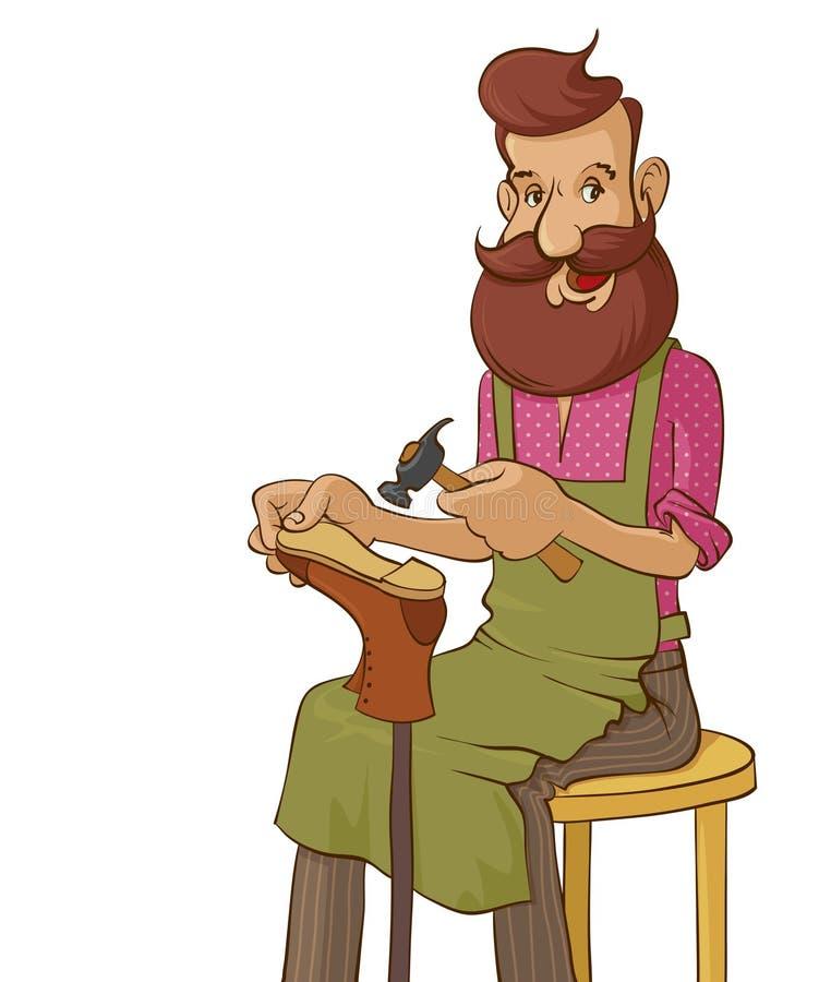Vektorillustration av skomakaren stock illustrationer