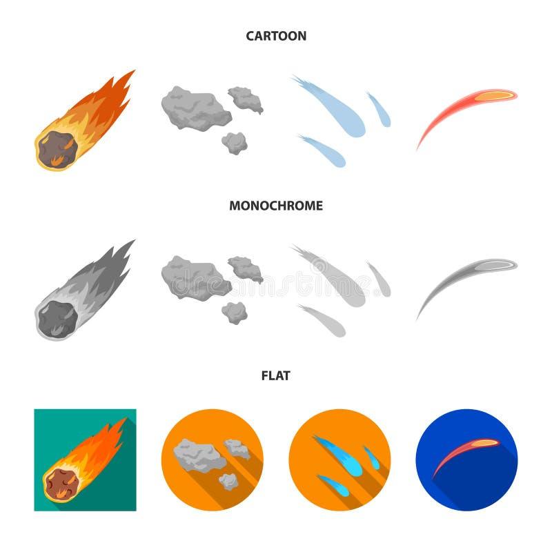 Vektorillustration av skytte- och brandlogoen Samlingen av skytte och asteroiden lagerf?r symbolet f?r reng?ringsduk stock illustrationer