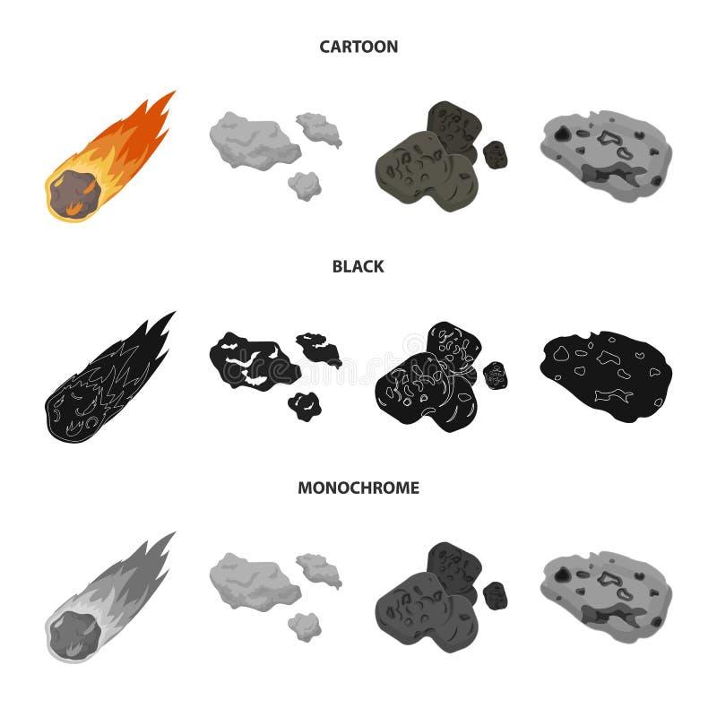 Vektorillustration av skytte- och brandsymbolen Upps?ttning av skytte- och asteroidmaterielsymbolet f?r reng?ringsduk vektor illustrationer