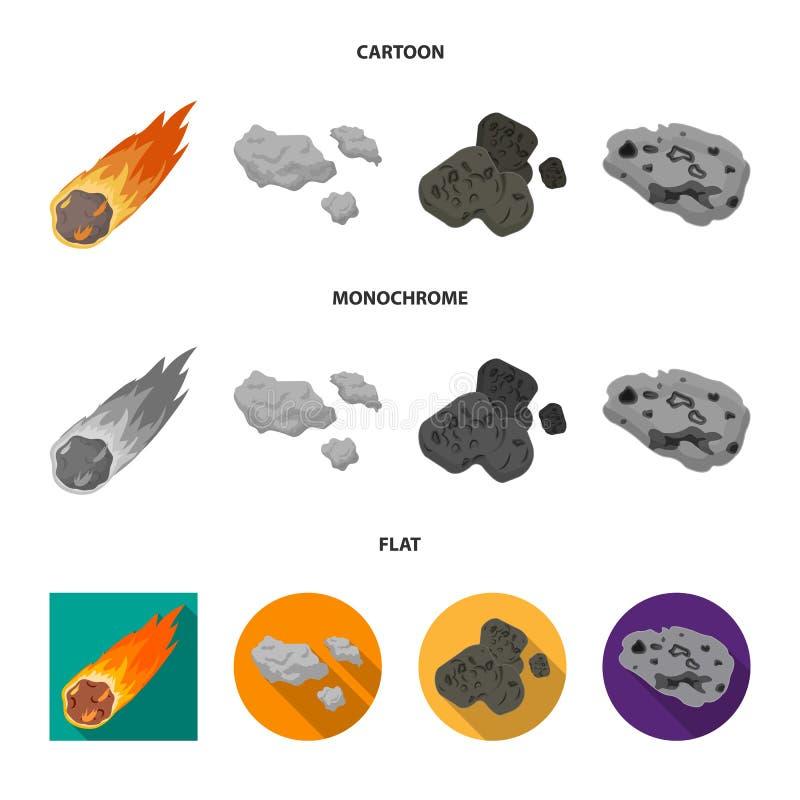 Vektorillustration av skytte- och brandsymbolet Samlingen av skytte och asteroiden lagerf?r vektorillustrationen stock illustrationer
