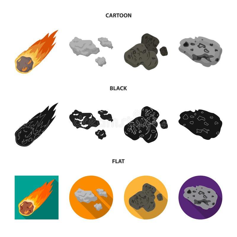 Vektorillustration av skytte- och brandtecknet Samling av skytte- och asteroidvektorsymbolen f?r materiel stock illustrationer