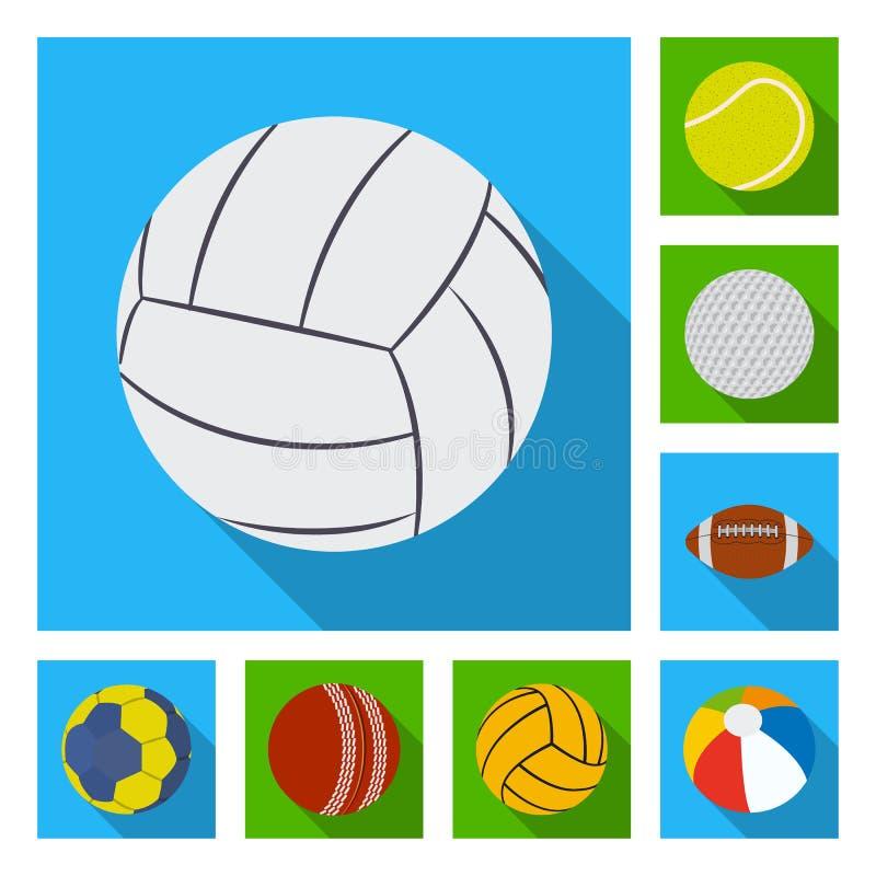 Vektorillustration av sport- och bolllogoen Upps?ttning av sporten och den idrotts- materielvektorillustrationen vektor illustrationer