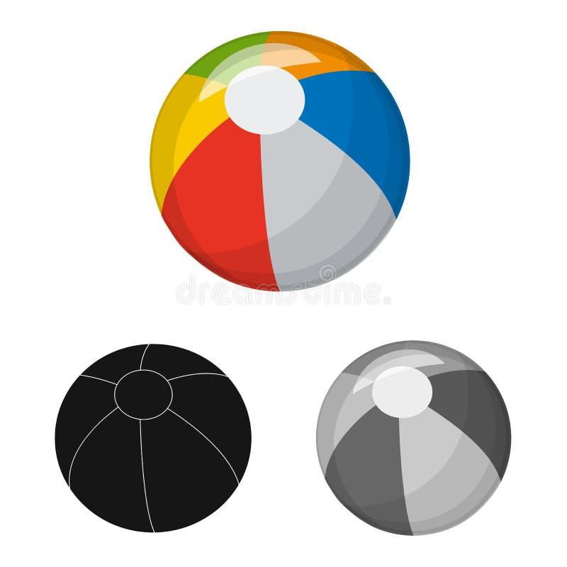 Vektorillustration av sport- och bolllogoen Upps?ttning av sporten och det idrotts- materielsymbolet f?r reng?ringsduk royaltyfri illustrationer