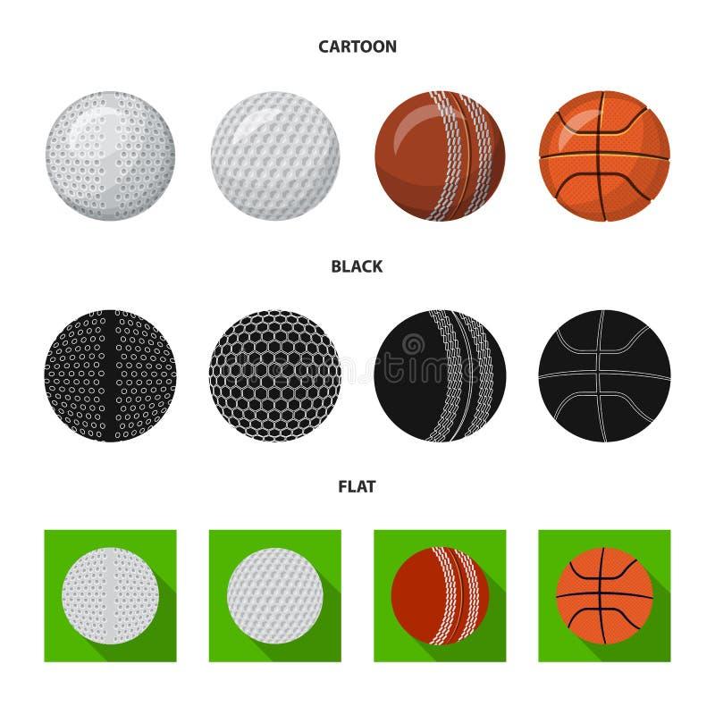 Vektorillustration av sport- och bolllogoen Upps?ttning av sporten och idrotts- vektorsymbol f?r materiel stock illustrationer
