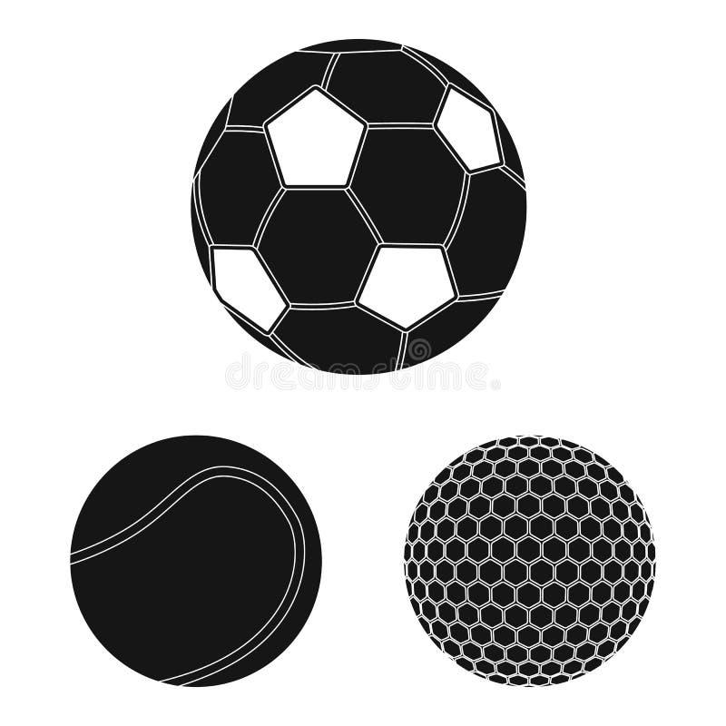Vektorillustration av sport- och bollsymbolen Upps?ttning av sporten och idrotts- vektorsymbol f?r materiel vektor illustrationer