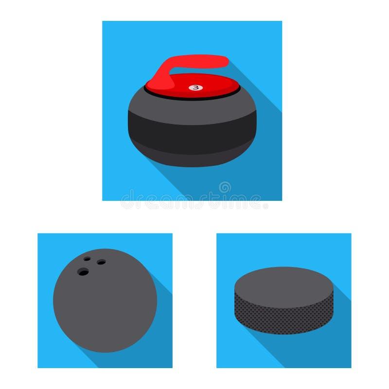 Vektorillustration av sport- och bolltecknet Upps?ttning av sporten och idrotts- vektorsymbol f?r materiel vektor illustrationer