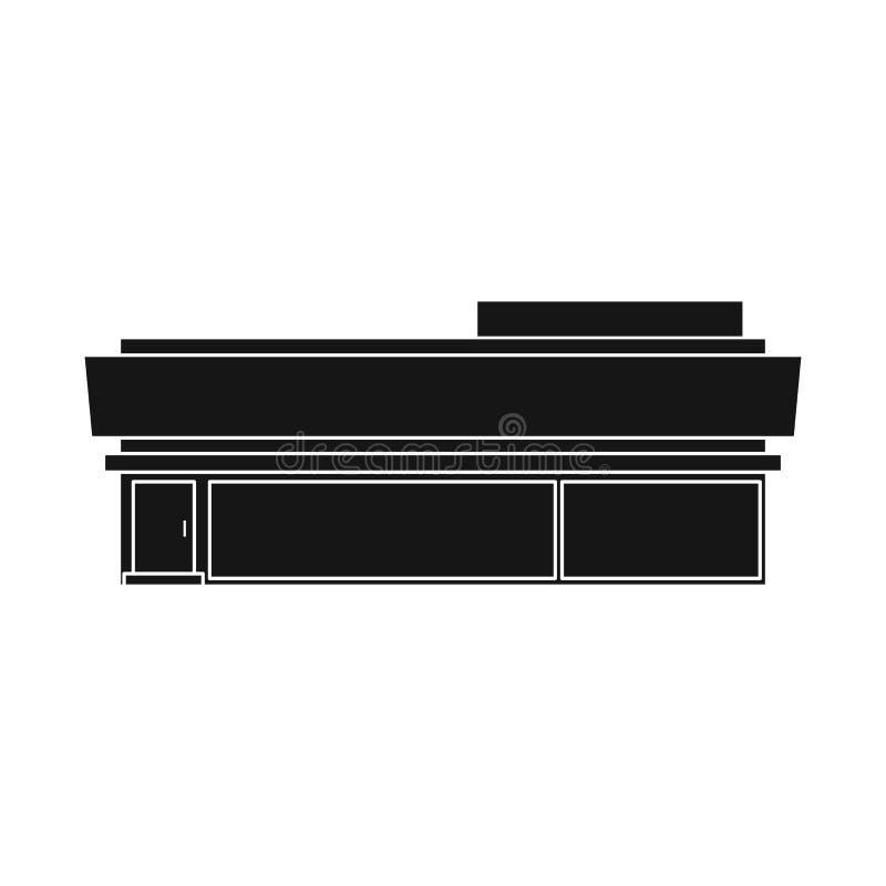 Vektorillustration av stormarknaden och att shoppa tecknet Ställ in av illustration för stormarknad- och kontorsmaterielvektor vektor illustrationer