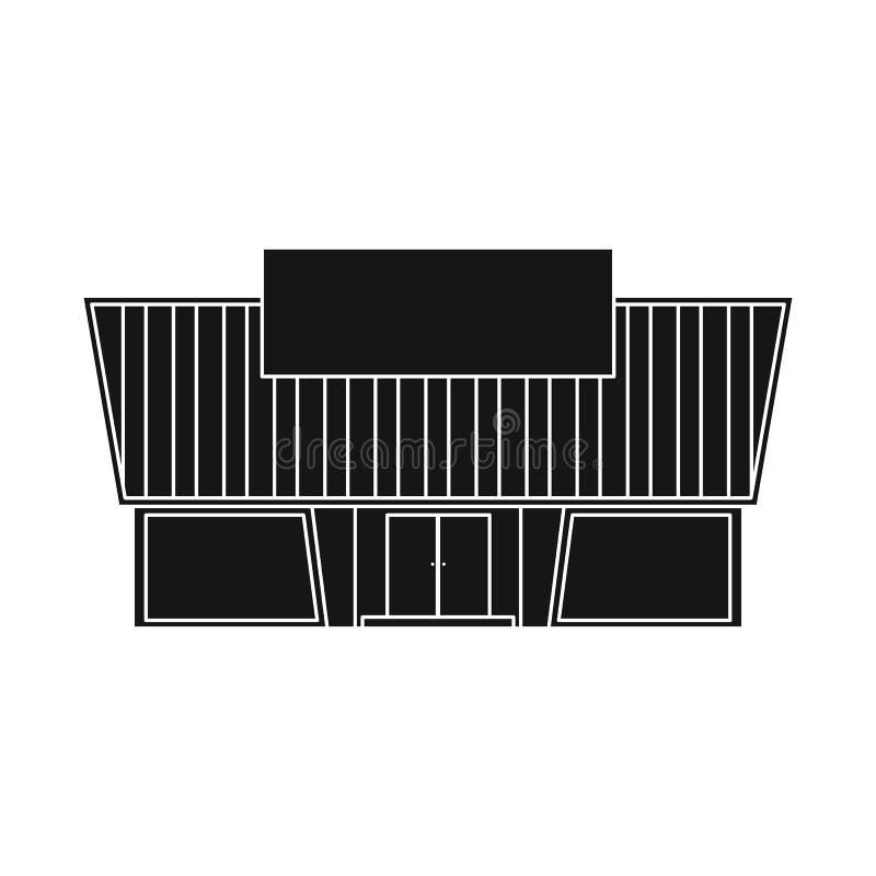 Vektorillustration av stormarknaden och det moderna symbolet Samling av stormarknad- och ingångsvektorsymbolen för materiel stock illustrationer