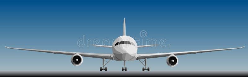 Vektorillustration av stort airplan främre. vektor illustrationer