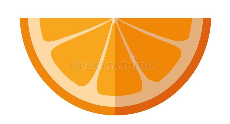Vektorillustration av stycket av apelsinen arkivfoton