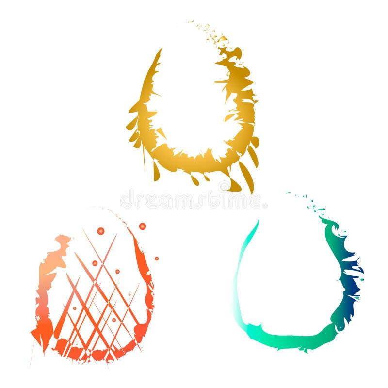 Vektorillustration av symboliska bildägg lyckliga easter stock illustrationer