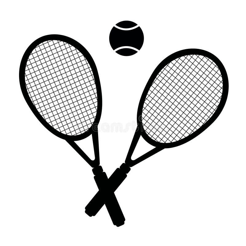 Vektorillustration av tennisuppsättningen arkivbilder