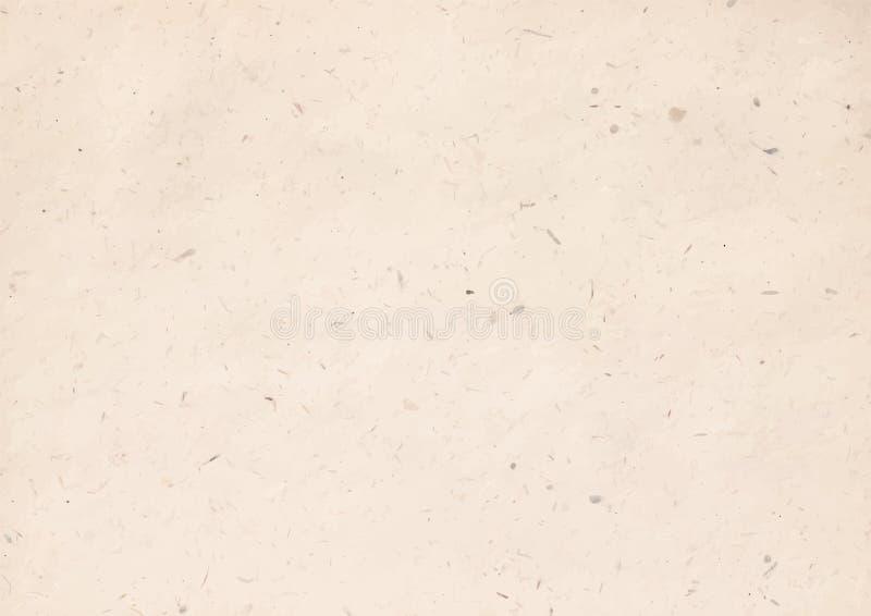 Vektorillustration av textur för kraft papper royaltyfri illustrationer