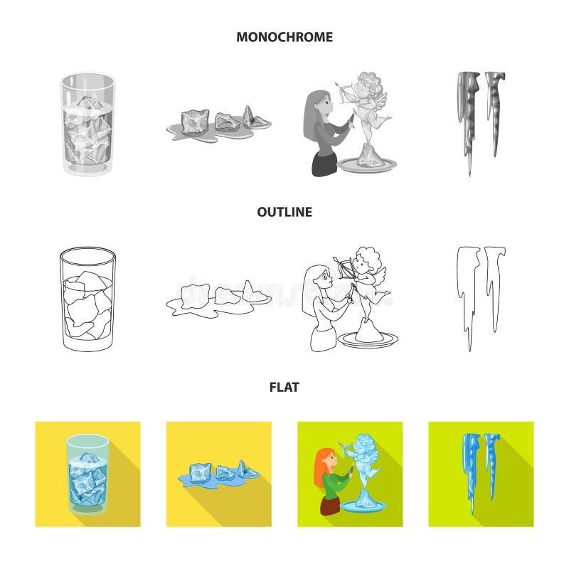Vektorillustration av textur och det djupfrysta symbolet St?ll in av textur och genomskinlig materielvektorillustration vektor illustrationer