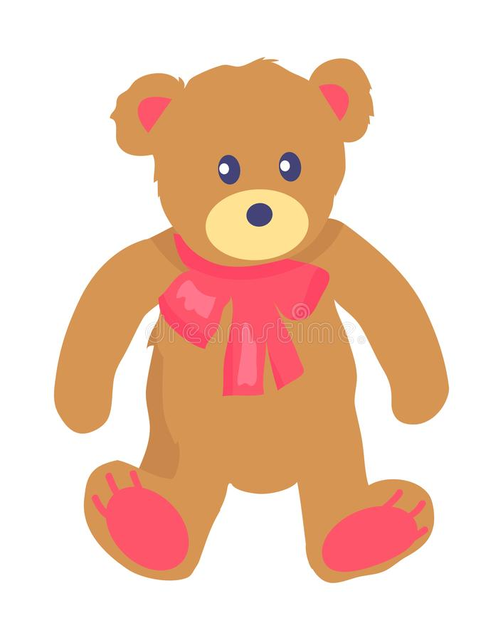 Vektorillustration av Toy Teddy Bear med Baw stock illustrationer