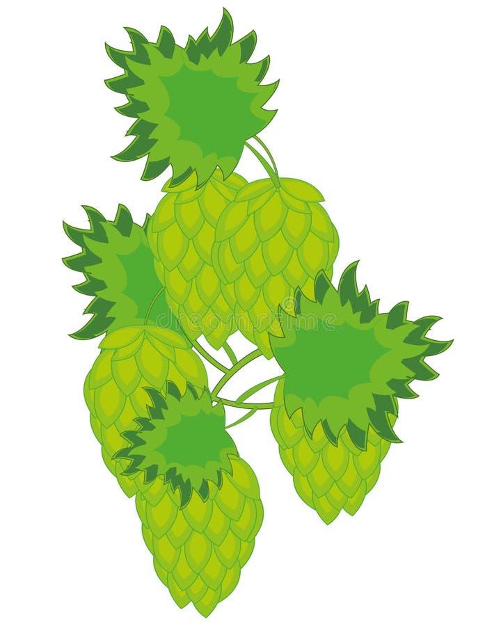 Vektorillustration av växtflygturen med frukt stock illustrationer