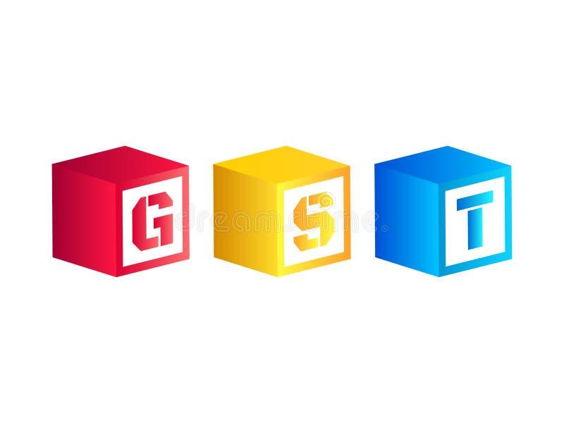 Vektorillustration av varor och tjänstskatt eller GST royaltyfri illustrationer