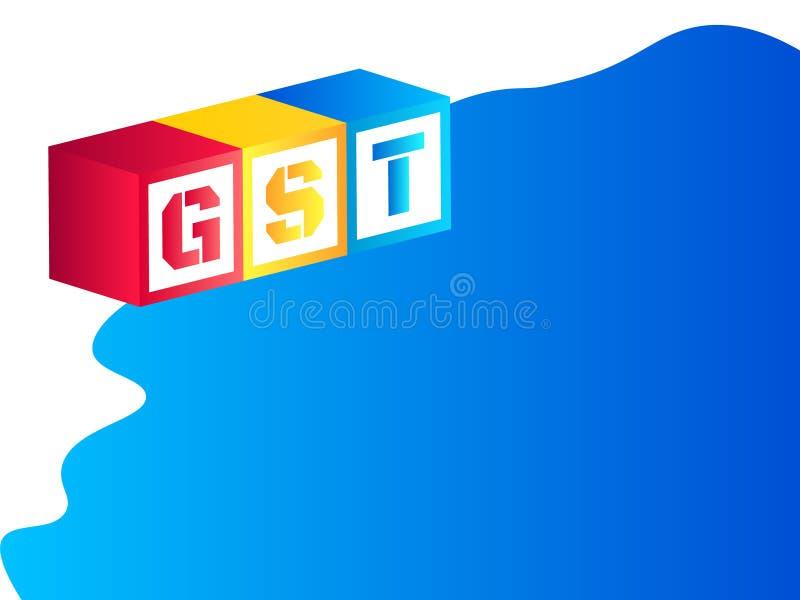 Vektorillustration av varor och tjänstskatt eller GST vektor illustrationer