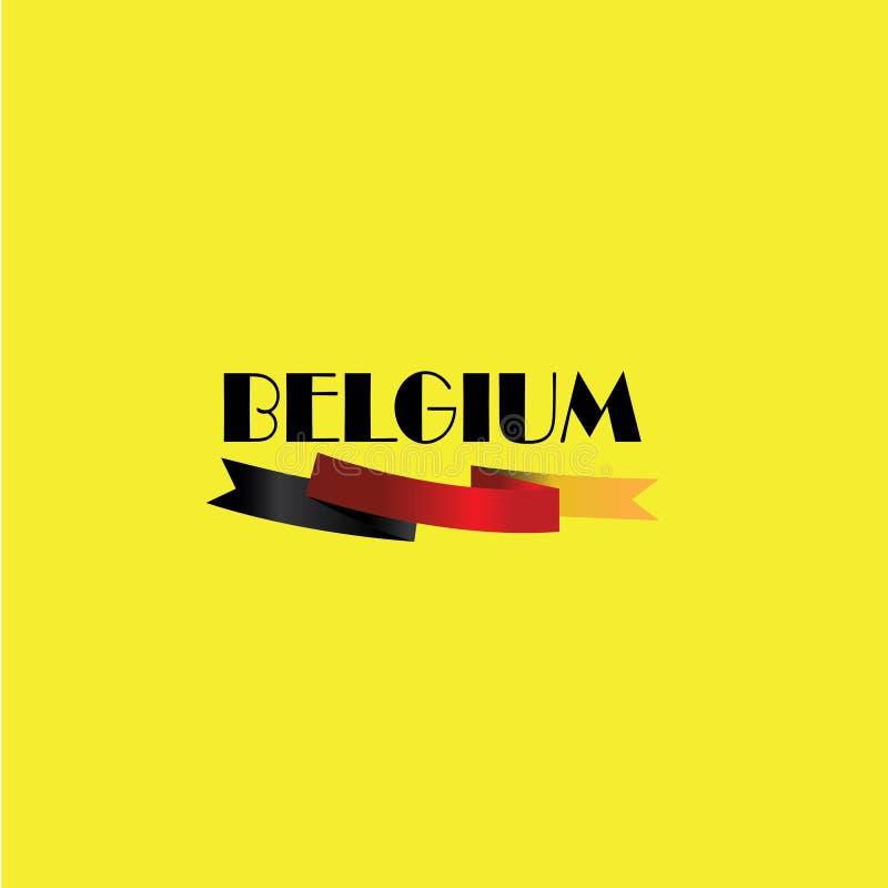 Vektorillustration, baner eller affisch f?r sj?lvst?ndighetsdagen av Belgien vektor illustrationer