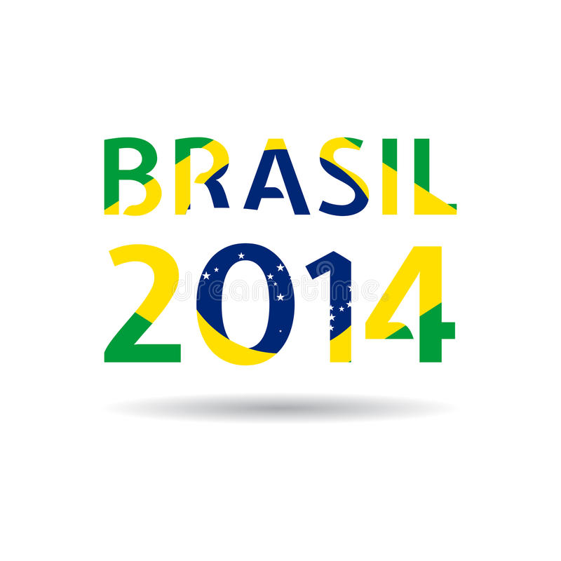 Vektorillustration Brasilien 2014 vektor illustrationer