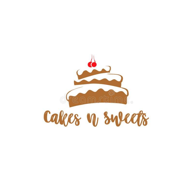 Vektorillustration Browns und des weißen Kuchens lizenzfreie abbildung