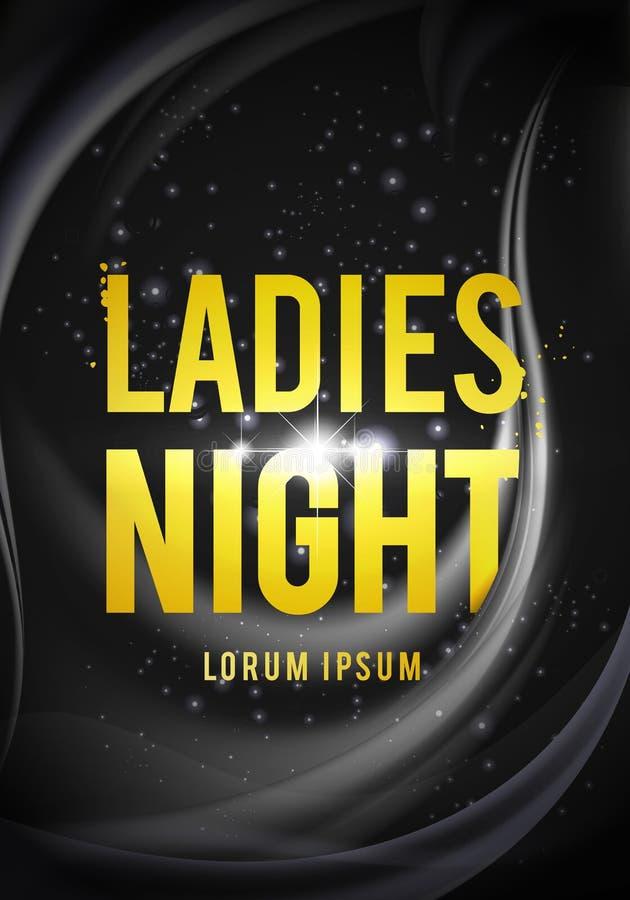 Vektorillustration Damen-Nachtparteidesign für Plakat, Flieger oder Fahne stock abbildung