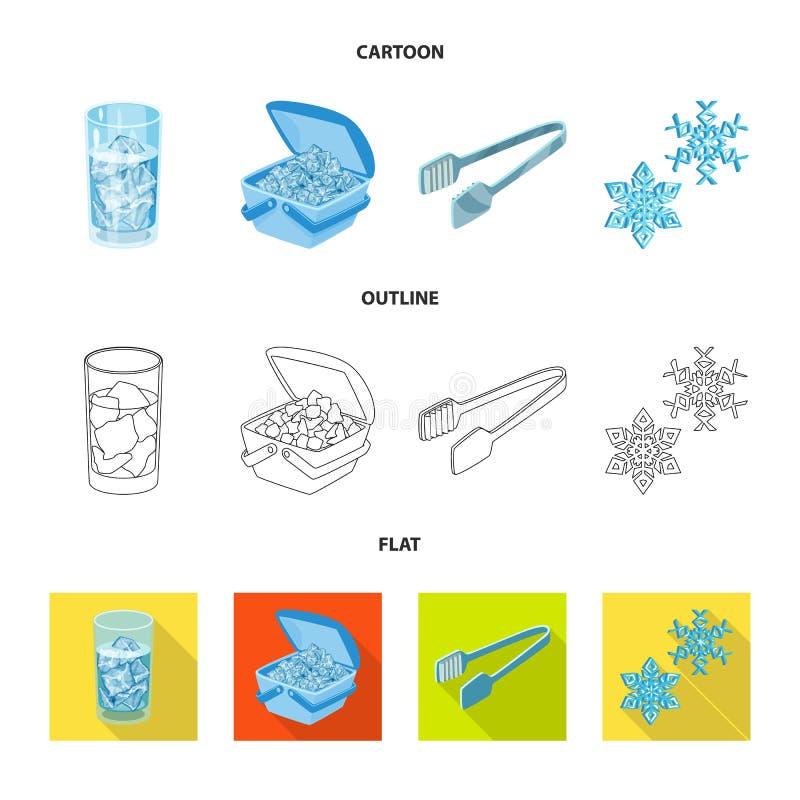 Vektorillustration der Beschaffenheit und des gefrorenen Logos Sammlung der Beschaffenheit und der transparenten Vektorillustrati stock abbildung
