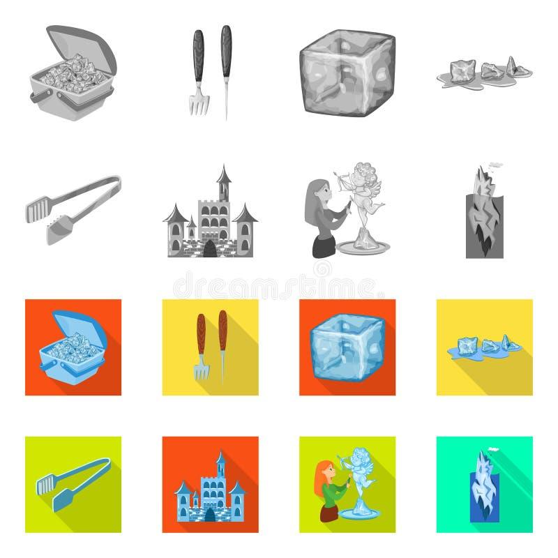 Vektorillustration der Beschaffenheit und des gefrorenen Logos Stellen Sie von der Beschaffenheit und von der transparenten Vekto stock abbildung