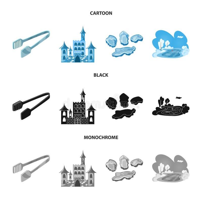 Vektorillustration der Beschaffenheit und des gefrorenen Symbols Sammlung der Beschaffenheit und der transparenten Vektorillustra vektor abbildung