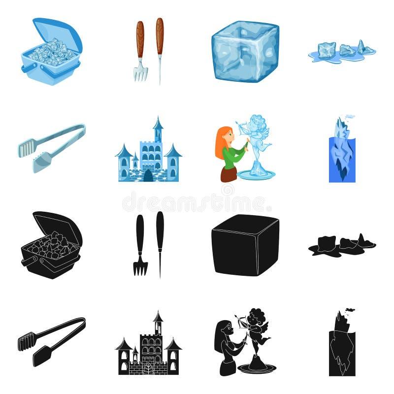 Vektorillustration der Beschaffenheit und des gefrorenen Symbols Stellen Sie von der Beschaffenheit und von der transparenten Vek stock abbildung
