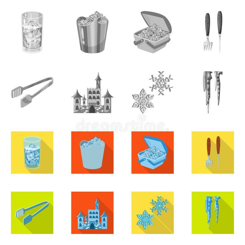 Vektorillustration der Beschaffenheit und des gefrorenen Symbols Stellen Sie von der Beschaffenheit und vom transparenten Aktiens stock abbildung