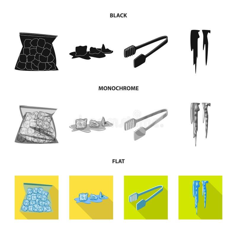 Vektorillustration der Beschaffenheit und des gefrorenen Zeichens Sammlung der Beschaffenheit und der transparenten Vektorikone f stock abbildung