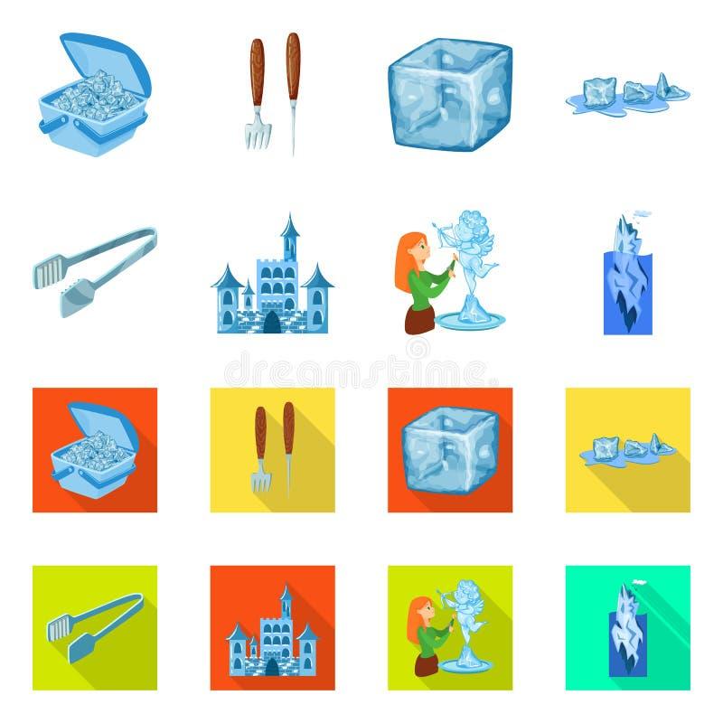 Vektorillustration der Beschaffenheit und der gefrorenen Ikone Stellen Sie von der Beschaffenheit und von der transparenten Vekto stock abbildung