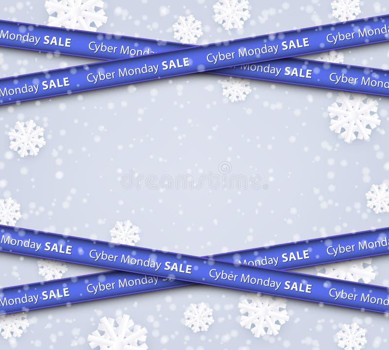 Vektorillustration der Cybermontag-Verkaufsschablone mit Kopienraum stock abbildung